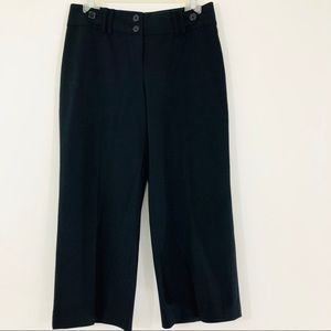 White House Black Market SZ 2 Black Crop Pants